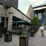 The Fountain Bistro in Campus Martius will close Monday to make way for a new concept that will debut in late summer. (Brandy Baker / The Detroit News)