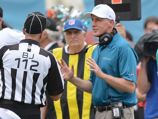 Dolphins head coach Joe Philbin