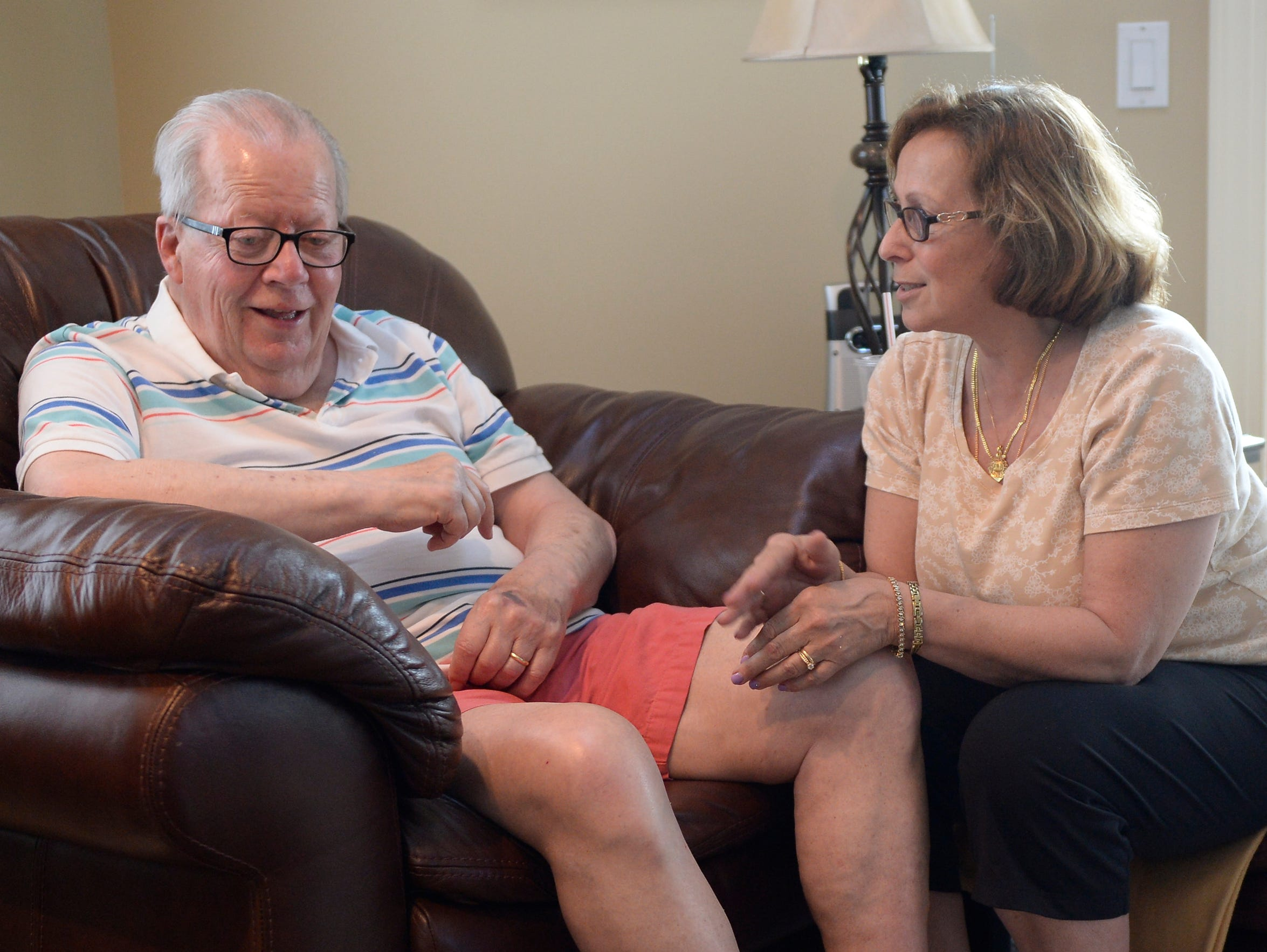 Debby White retired early to take care of her husband