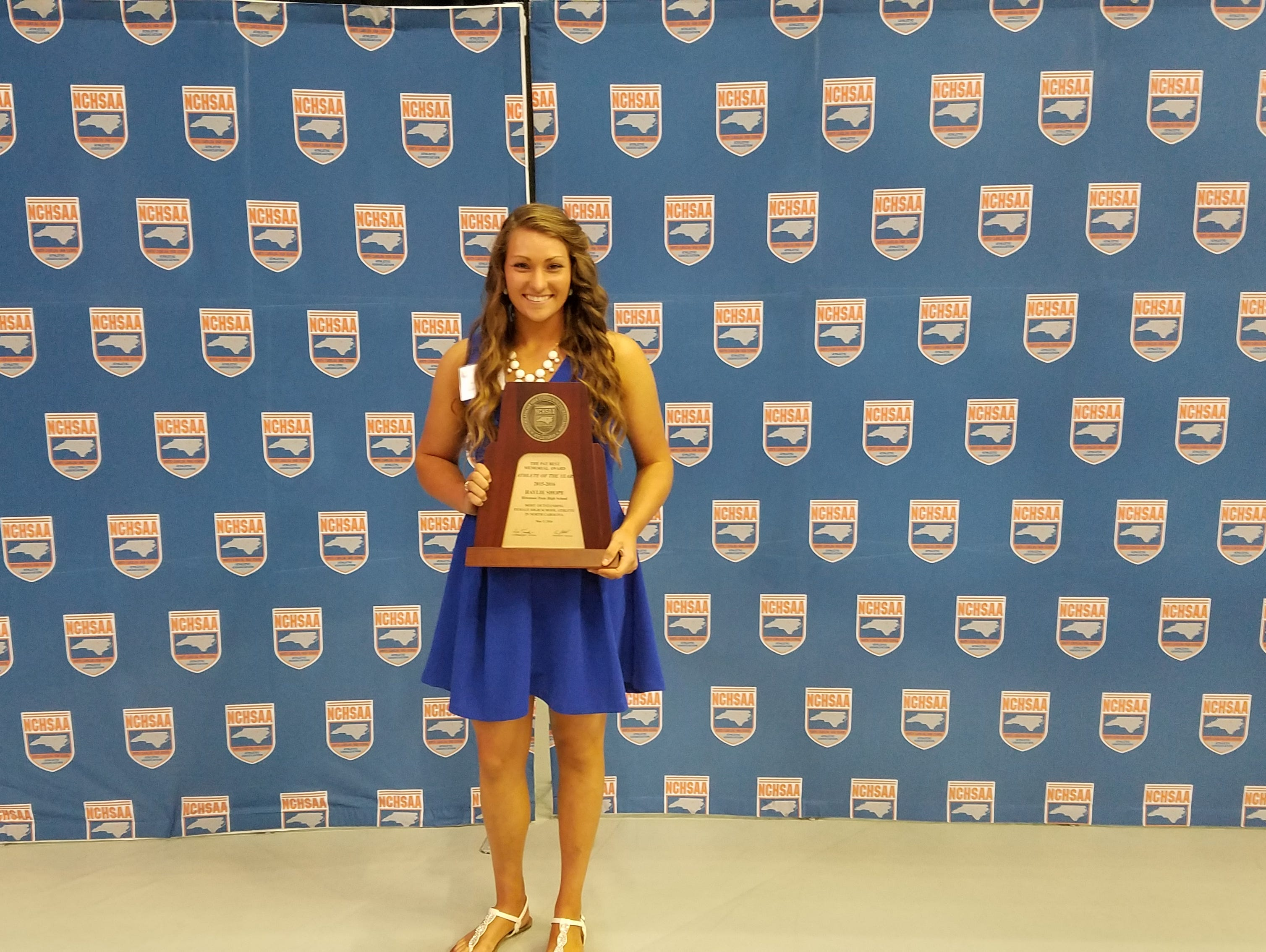Hiwassee Dam senior Haylie Shope was named the NCHSAA female athlete of the year on Thursday in Chapel Hill.