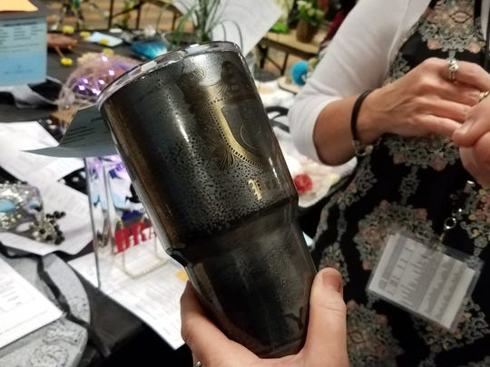 There were nearly 4,200 entries for the 2017 homemaking show at the Nueces County Junior Livestock Show. With the increase in entries, there was also an increase in computer-generated crafts, including powder-coated Yeti cup designs, 3-D printings and laser-etched wood designs.