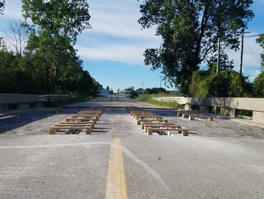 The roadway on Kilgore Road between Bryce and Imlay