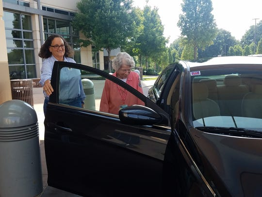 Rider Grace Heaberg and volunteer MyRide driver Wendy