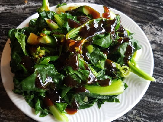 Chinese broccoli with oyster sauce — a healthy option