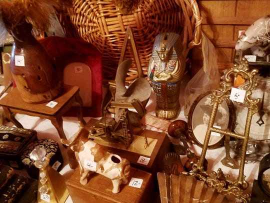 A view of part of the eclectic collection for sale