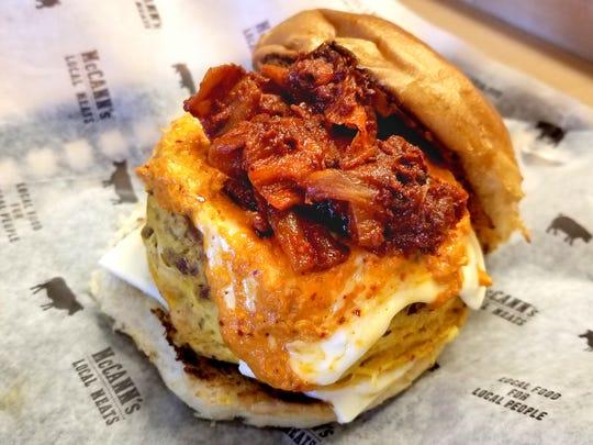 Kimchi Breakfast Sandwich from McCann's Local Meats.