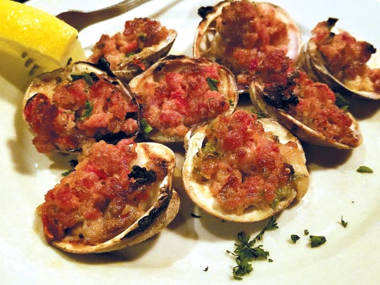 Clams Casino from Charley Brown's Restaurant.