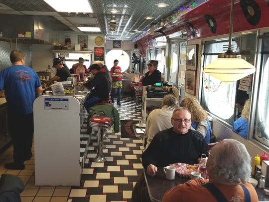 Powers Diner employees volunteered to work Christmas day on Monday, Dec. 25, 2017, after owner John Liangos decided to stay open.