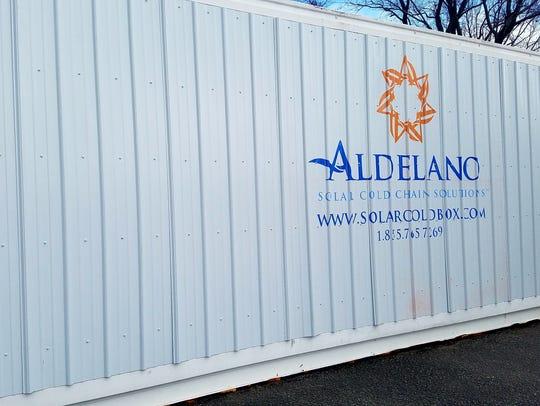 The Aldelano Solar Cold Chain Solutions Solar ColdBox.