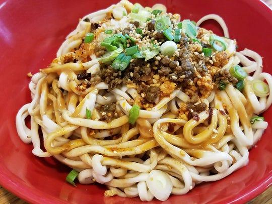 Dan dan noodles at Tsingtao restaurant.