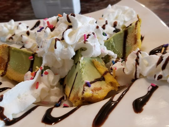 Tempura green tea ice cream