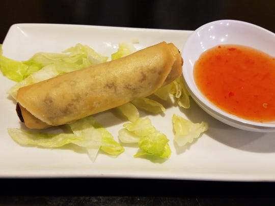 The fried Lao eggroll at Yellow Elephant restaurant.