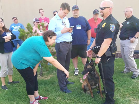 Members of Abilene Academy got to meet K9s from the