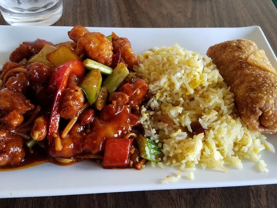 Kung pao chicken lunch at Ming's Noodles.