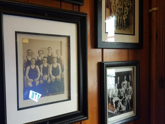 Some of the local memorabilia adorning the wall of