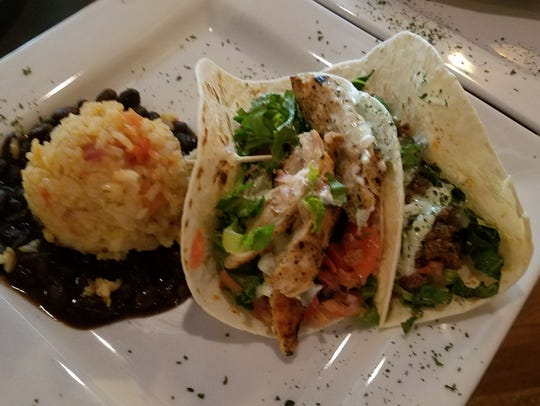 Dicky's Corner Pub serves up chicken and beef tacos.