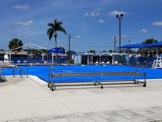 The North Fort Myers community pool spent much of the