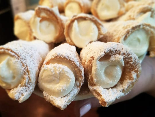 Classic cream horns are puff pastry baked around a