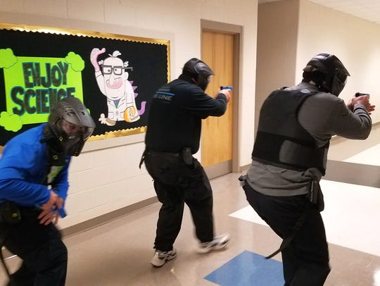 Bossier SRO's train for active shooter situations.