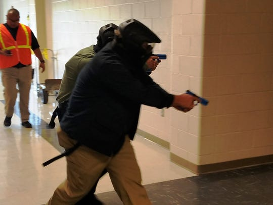 Bossier SROs train for active shooter situations.