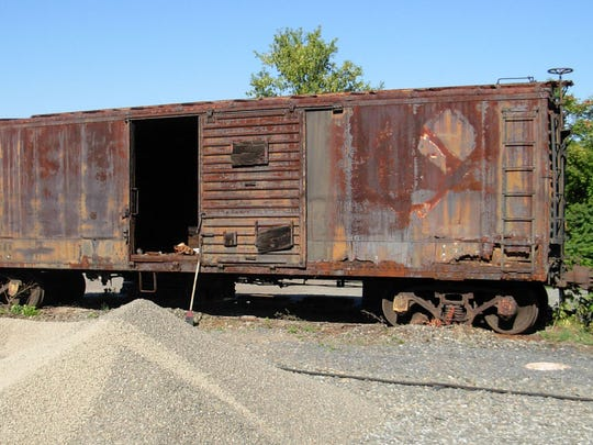 This is what a 1928 Erie Railroad box car looked like in 2006 when Norfolk Southern Railroad donated it to the Chemung Valley Railway Historical Society.