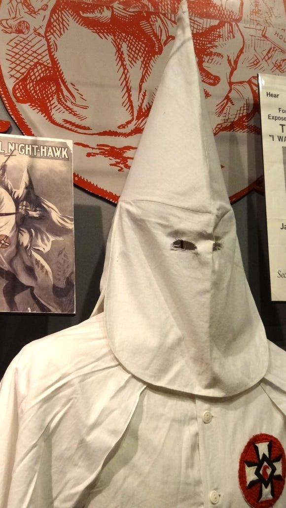 Display of Ku Klux Klan effects at the National Civil