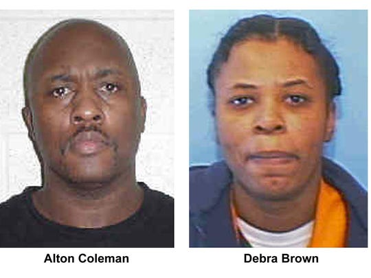 Convicted killers Alton Coleman and Debra Brown are shown in these undated photos from the Ohio Department of Rehabilitation and Correction. Coleman was executed in Ohio for the 2002 murder of Marlene Walters in Norwood. Brown also convicted of murder in the seven-week five-state crime spree had her death penalty commuted to a life sentence.
