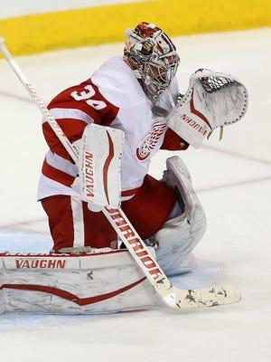 Detroit Red Wings goalie Petr Mrazek.