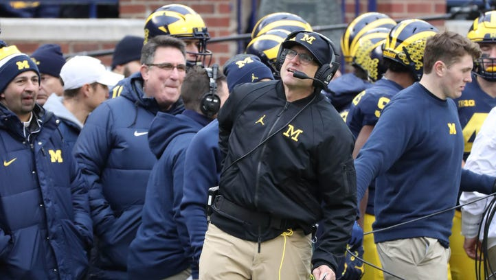 Michigan's Jim Harbaugh has his staff, but can he fix offense's efficiency?