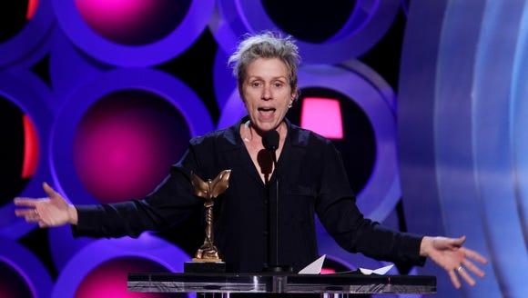 Frances McDormand accepts Best Female Lead for 'Three