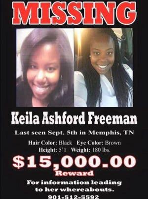 Missing poster for Keila Ashford Freeman
