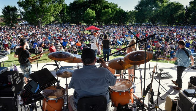 The Johnny Holm Band performs Wednesday, June 14, during the first Summertime by George! event of the season at Lake George in St. Cloud.