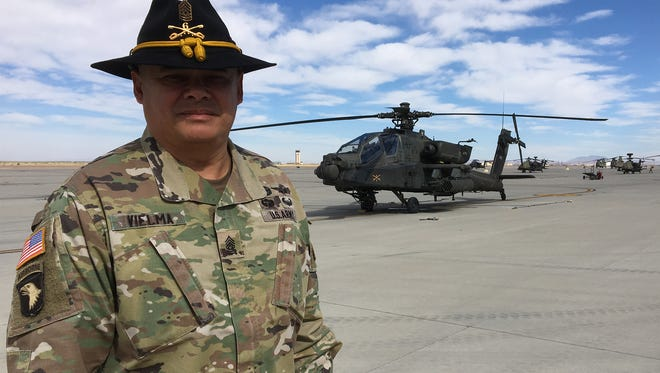 Command Sgt. Maj. Jesse Vielma is the new senior enlisted leader for the 3rd Squadron, 6th Cavalry Regiment.