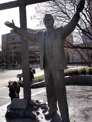 The statue of Billy Graham in downtown Nashville will relocate to North Carolina.
