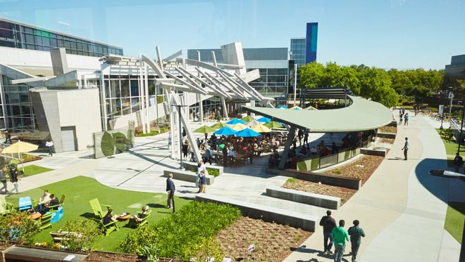 Google's campus in Mountain View, California.