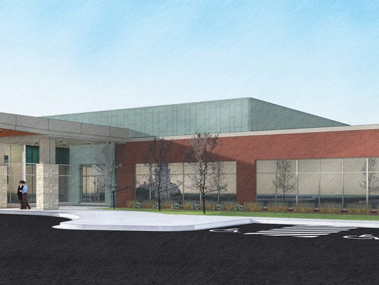 A rendering of the new Aurora Health Care facility