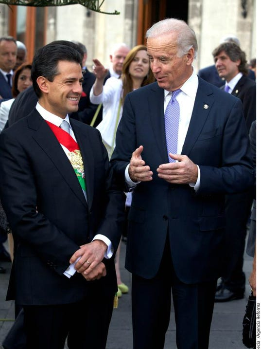 Enrique Peña Nieto y Joe Biden en México