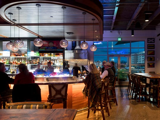 The bar at Chesapeake's on Parkside Drive features