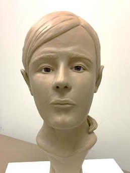 A forensic artist with the Ohio Bureau of Criminal Investigation created this clay model of the woman whose skeletal remains were found in 2007 off Victory Road. Believed to be the first victim of suspected serial killer Shawn Grate, her identity remains unknown.