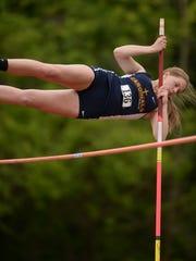 Seton Catholic's Sarah Dickman competes in pole vault