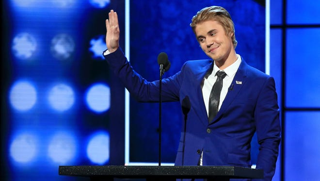 Honoree Justin Bieber speaks onstage at his Comedy Central Roast.