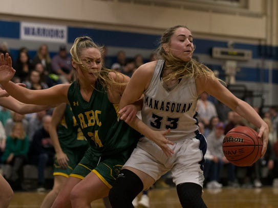 Red Bank Catholic's Rose Caverly and Manasquan's Faith