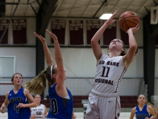 Red Bank Regional's Meghan Murray goes up with shot
