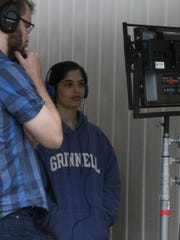"""Written and directed by Noga Ashkenazi, right, a 2009 graduate of Grinnell College, the film """"Saints Rest"""" has been in production throughout Grinnell."""