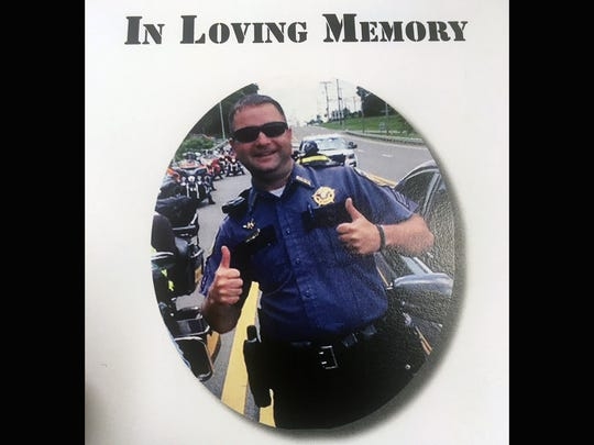 The funeral program for Dickson County Sgt. Daniel Baker, killed in the line of duty May 30, 2018.