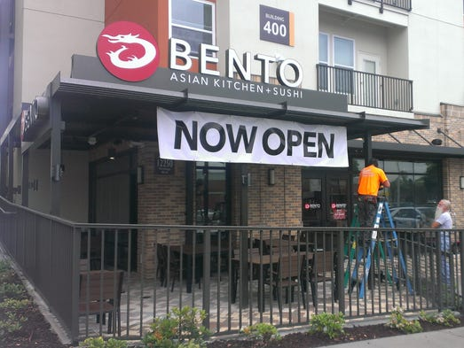 The front facade of Bento Cafe at Plaza on University.