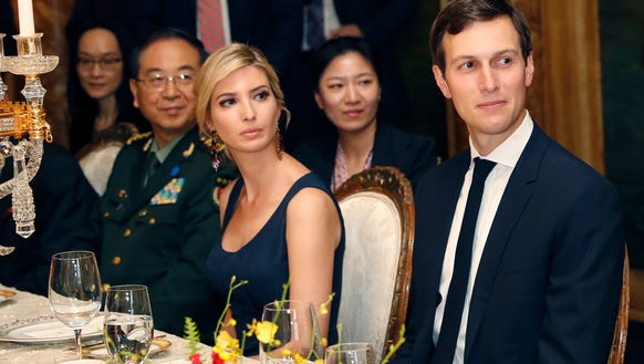 In this April 6 photo, Ivanka Trump, second from right,