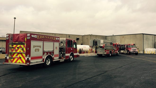 The Ebenezer Fire Protection District responds to a fire.