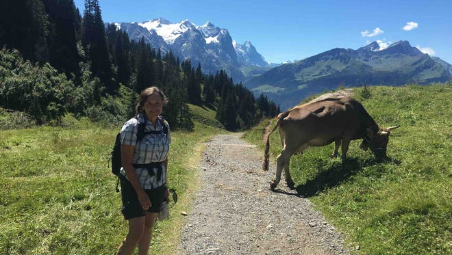 Cowbells provided the soundtrack for part of the way as Lisa Jones hiked in Switzerland.