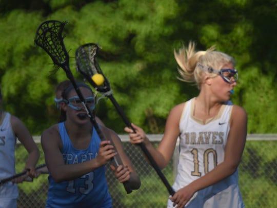 Indian Hills #10 Jenna Murphy drives the ball Girls